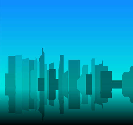 Trendy city skyline. Vector illustration eps 10