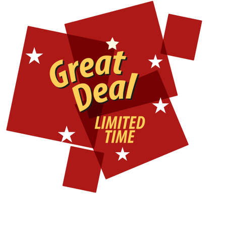 Great Deals Sign Illustration Design Vector EPS 10 Ilustração