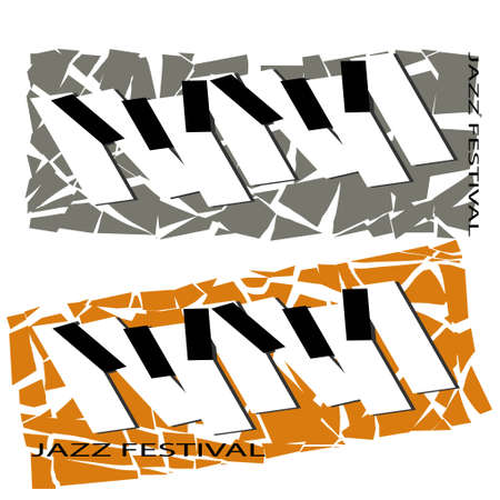 Modern flat template with jazz music festival. Sheet template. Vector musical flyer jazz festival Illustration