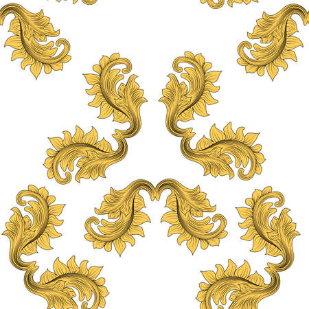 Abstraktes viktorianisches Muster für Printdesign. Oberflächentextur. Modeillustration. Vintage-Vektor-Illustration. Mode-Design. Dekoration mit floralen Ornamenten. Nahtlose Musterfliese.