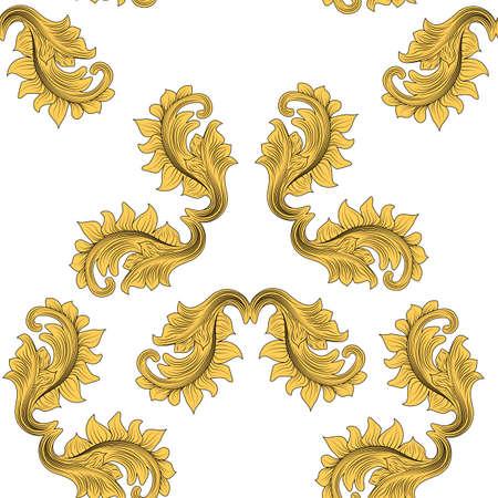 Patrón victoriano abstracto para diseño de impresión. Textura de superficie. Ilustración de moda. Ilustración de vector vintage. Diseño de moda. Decoración de adornos florales. Azulejo de patrones sin fisuras.