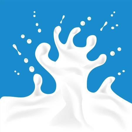 Paint splash. Splashes of milk, great design for any purposes. Fresh drink concept. Liquid, flow, fluid background. Food concept design. Vektorové ilustrace