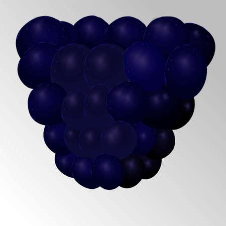 Blackberry on white background. Blackberries isolated. Vector 3d illustration. Raspberry vector icon illustration. Fresh fruit.