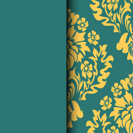 Ethnic pattern. Abstract greeting card, background with flowers and decorative leaves. For gifts, decoration and invitations for your design. With a place for you inscription