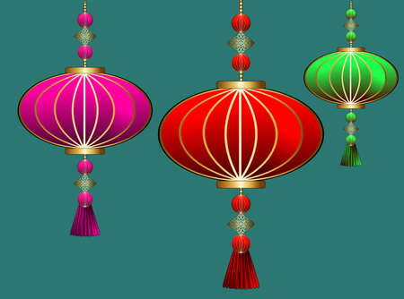 Abstract chinese lantern for decoration design.Lunar new year. Party event decoration. Hanging light. Chinese lantern, great design for any purposes.