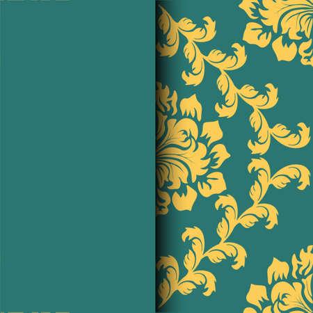 Motif ethnique. Carte de voeux abstraite, fond avec des fleurs et des feuilles décoratives. Pour les cadeaux, la décoration et les invitations pour votre conception. Avec une place pour votre inscription Vecteurs