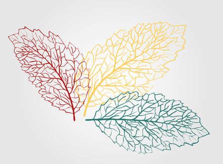 Fondo de hojas de otoño, gran diseño para cualquier propósito. Patrón con fondo de hojas de otoño rojo para diseño de papel tapiz Ilustración de vector