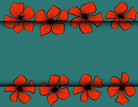 Red poppies, great design for any purposes. Watercolor red poppy flower. Watercolor poppies for wallpaper design