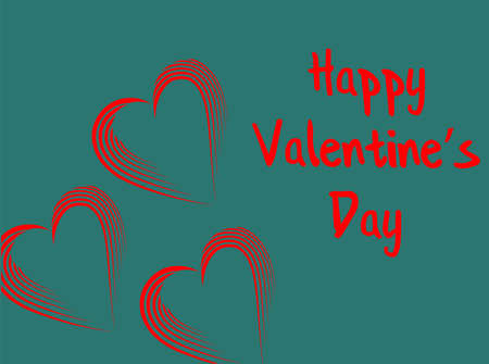 Beautiful a red heart, great design for invitation, greeting card. Red hearts background. Happy valentine. Abstract hearts holiday backdrop