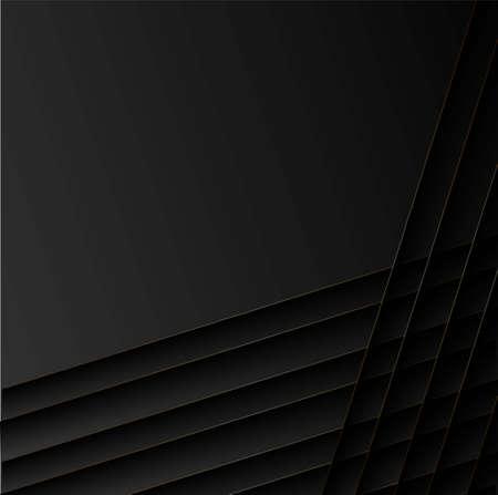 Black shadows on dark background. Shadow reflection design. Space background. Abstract design element Vectores