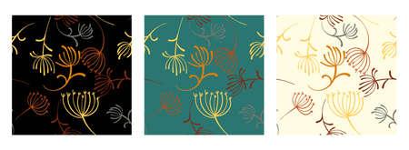 Dandelion seamless pattern for decoration design. Decorative dandelion wallpaper. Beautiful dandelions seamless, great design for any purposes.