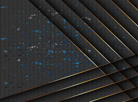 Abstract gold and black shiny vector background.