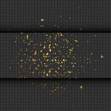 Abstract gold and black shiny background Vectores