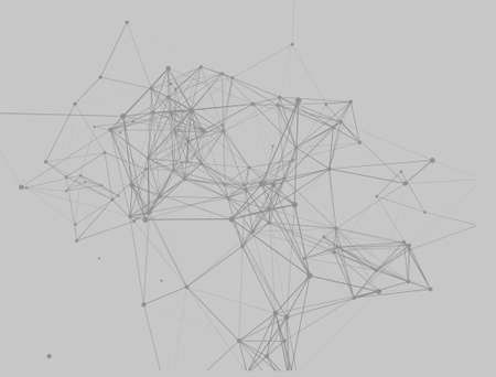 Point of the line. Geometric gradient triangle pattern background. Futuristic design backdrop. Icon with point of the line on gray background. Foto de archivo - 142606271