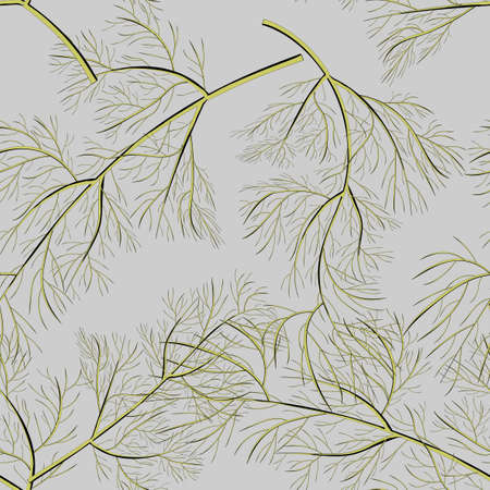 Beautiful dill, great design for any purposes. Seamless vector texture. Seamless vector background. Textile print design Foto de archivo - 142841628