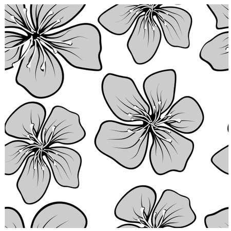 Vintage design template for wallpaper design. Floral seamless vector pattern. Gray collage. Line texture background. Floral background.
