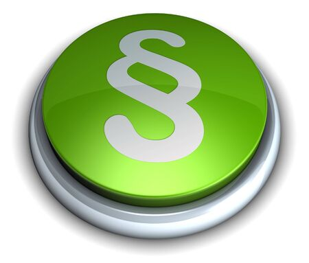 High detailed 3d green paragraph button