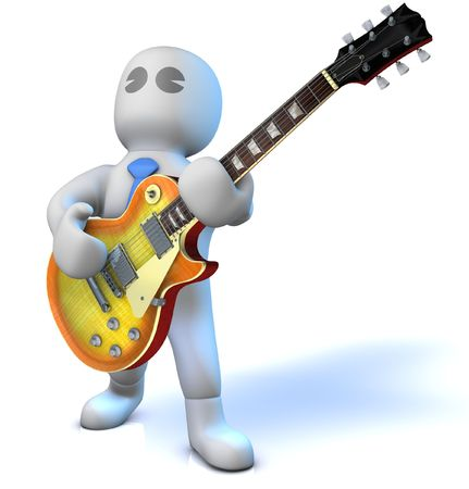 tuneful: A musician is playing an electric guitar Stock Photo