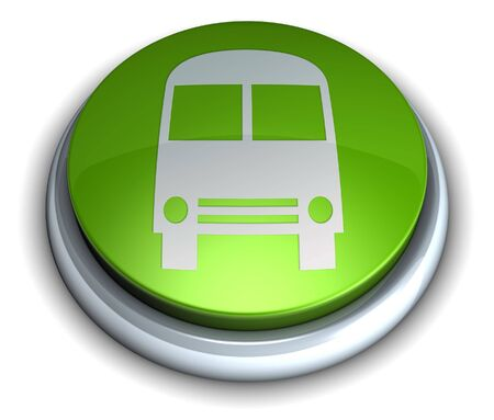 High detailed green bus button