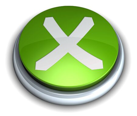 High detailed green cancel button