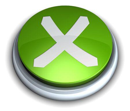 cancel: High detailed green cancel button