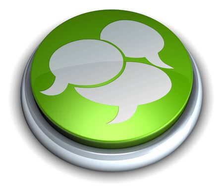 High detailed green chat button