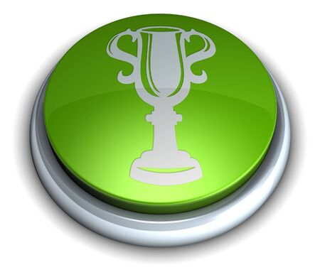 High detailed green trophy button