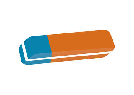 A classic with a red rubber eraser for pencil and a pen or pencil for blue part Stock Vector - 20931108