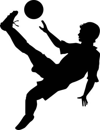 somersault: A football player with a spectacular overhead kick