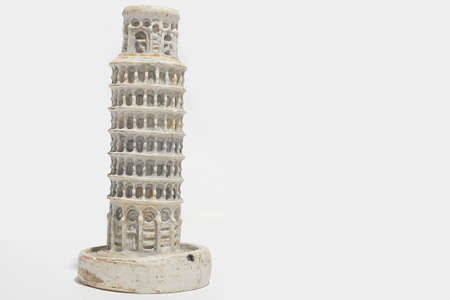 Isolated Pizza Tower, decorative handmade.
