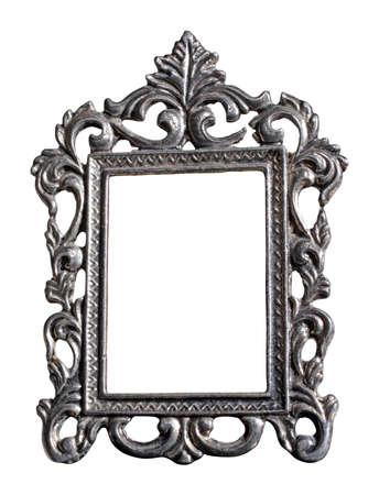 Photo frame isolated, matte metal. Zdjęcie Seryjne