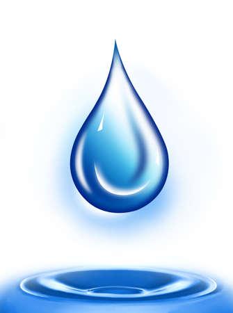 waterdrop: Water drop illustration. Water drop background.. Water-drop