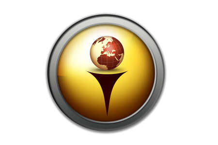 button of the world key of the business  photo