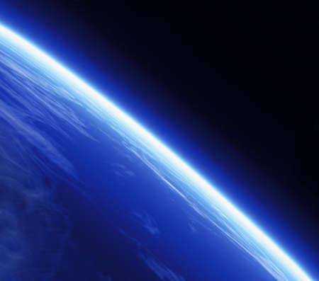 stratosphere: A Planets Horizon line viewed from space.