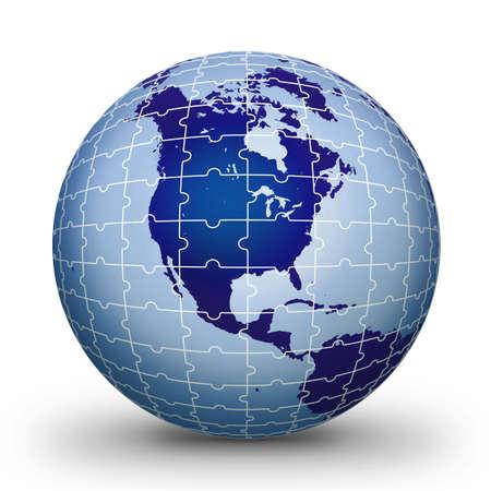 puzzlement: Puzzle world illustration bule World globe - world illustration.World. Globe. World-globe