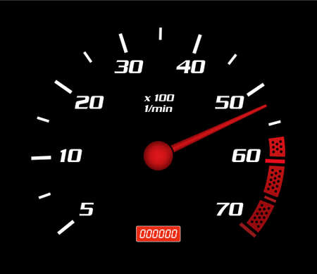 mileage: speed a meter illustration. Dashboard illlustration