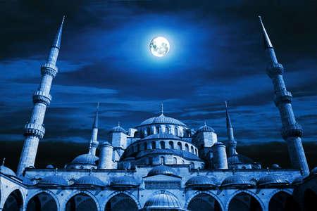 Mosque art. islamic architecture building