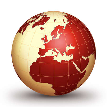 World globe - world illustration.World. Globe. World-globe Stock Illustration - 2600741