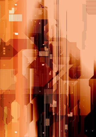 Technology background illustration. Electronic background Stock Illustration - 2600735