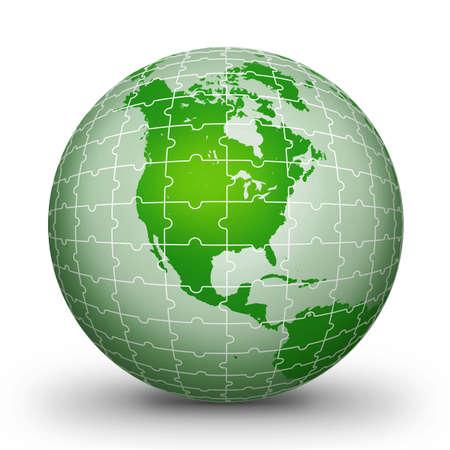 puzzlement: Puzzle world illustration World globe - world illustration.World. Globe. World-globe