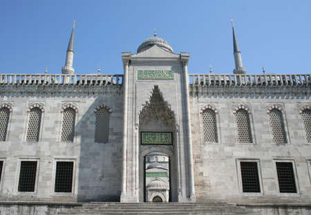 backdoor: a backdoor view of blue mosque with a good detail Stock Photo