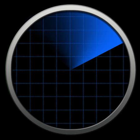 systems operations: Globe bluetooth Radar. Radar tecnology Stock Photo