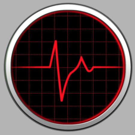cardioid: Tecnolog�a de radar. Electronic cardiogram pantalla.  Foto de archivo