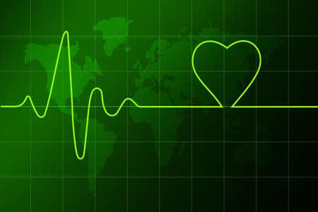 cardioid: Los amantes del coraz�n CARDIOGRAMA  Foto de archivo