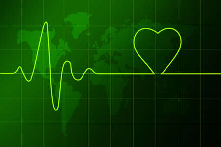 diagnoses: Lovers heart cardiogram  Stock Photo
