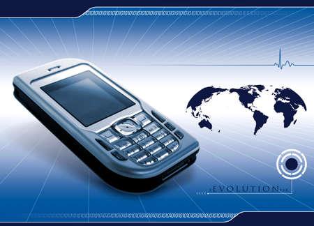cardioid: Cabecera en materia de tecnolog�a y communication.Banner de las industrias y technologie.Banner.
