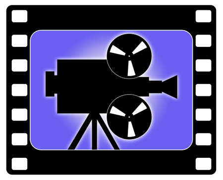 producer: Camera and cinema illustration working.