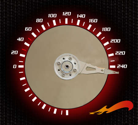 Pointig van de snelheidsmeter op 240 kmuur.