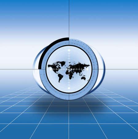 unfold: world. world map. map of the world. World design material. Artwork illustration.  World map banner Stock Photo
