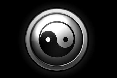 Ying-Yang sign, positive and negative versions. Made with PS Stock Photo - 2600512